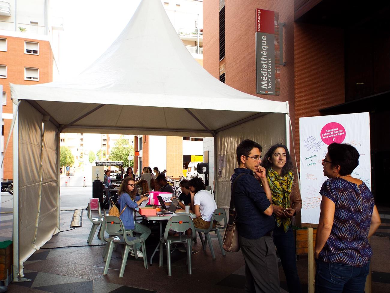 Installation Médiathèque José-Cabanis - plateforme Je Participe